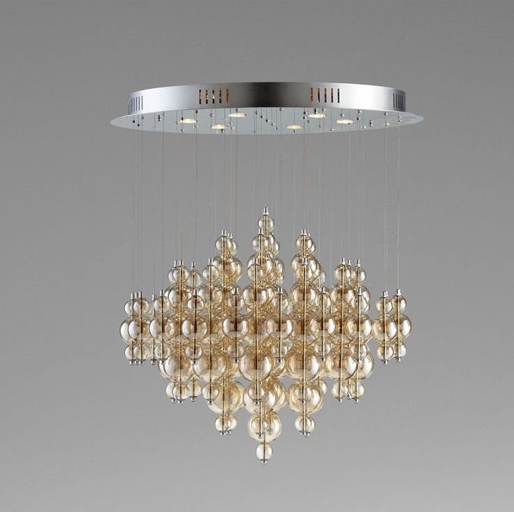 This Enchanting Chandelier Pendant Will Illuminate Your Ceiling With Smoky Glass Bubbles That Are Delicate And Sophisticated