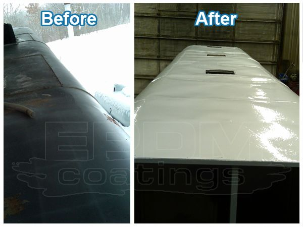 Before And After Picture Of RV Roof Repair