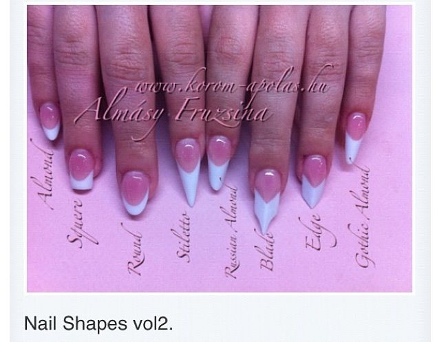 Nail Shapes The Pointy Nails Are Trending Right Now I Vote For Short Square Or Almond