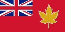 """In 1946 a special joint committee, tasked with solving the Canadian """"flag problem,"""" came up with this flag and recommended its use as the national flag for Canada. However, their suggestion was declined by Prime Minister Mackenzie King."""