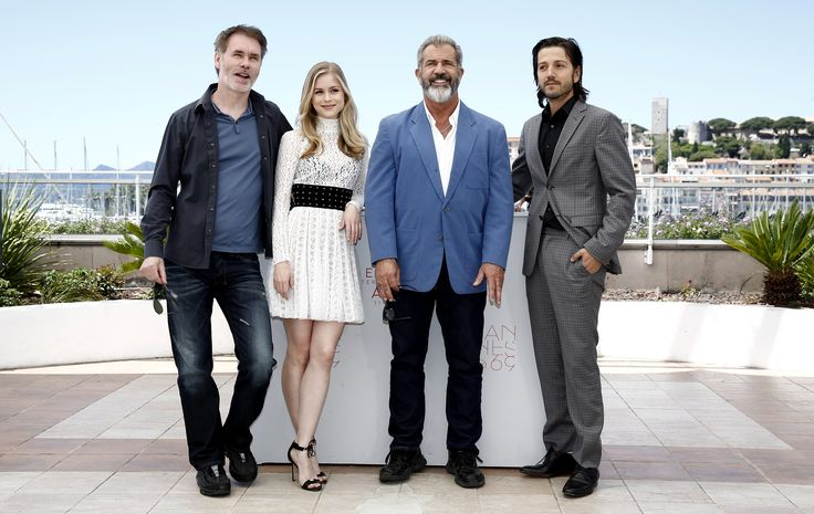 Jean-François Richet, Erin Moriarty, Mel Gibson et Diego Luna - Blood Father