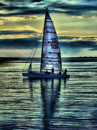 crystal glass sailboats ~ float on oceans of moonlight ~ at the edge of night  ~~R Andrews