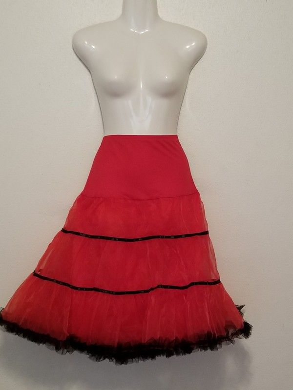 0881cafa4fa Ladies plus size red and black petticoat