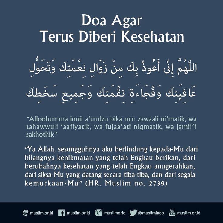 doa agar terus diberi kesehatan