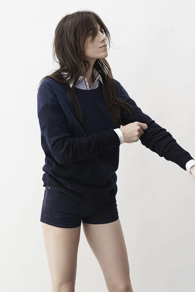MINIMAL + CLASSIC: Current/Elliot x Charlotte Gainsbourg on #Colette #shorts #black