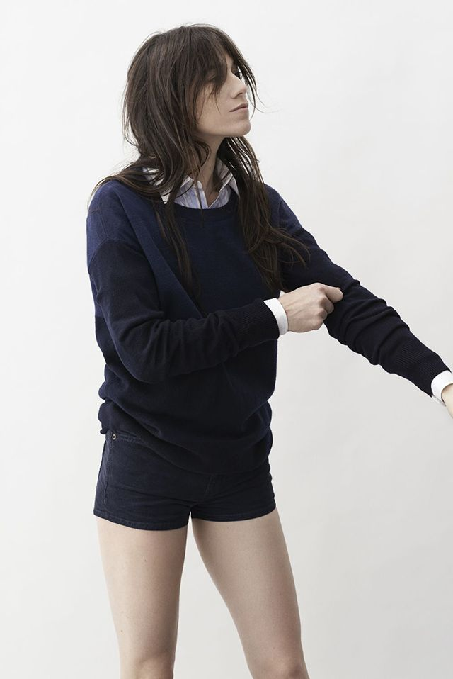 MINIMAL + CLASSIC: Current/Elliot x Charlotte Gainsbourg on #Colette #shorts #black