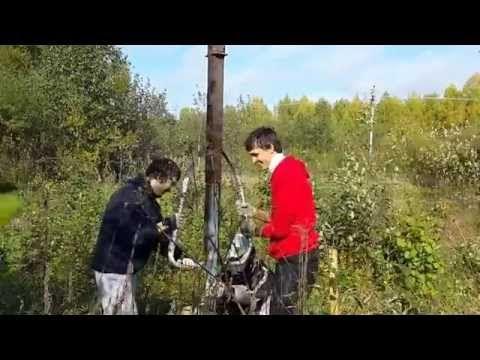 Как легко забить столбы для забора - YouTube