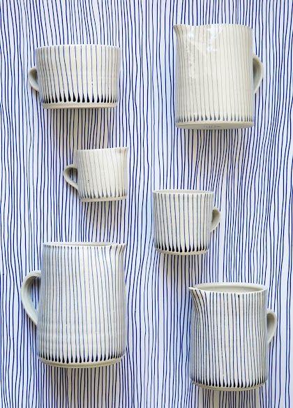 Blue Stripes! Wonki Ware, handmade in South Africa.