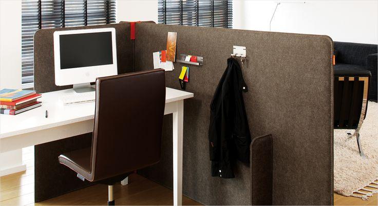 BuzziZone akustisk skillevæg og rumdeler. Acoustic partition and room divider.