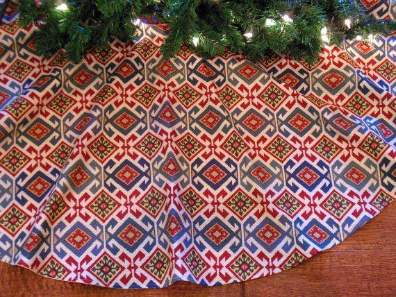 Southwestern Tree Skirt Southwest by KaysGeneralStore on Etsy, $70.00