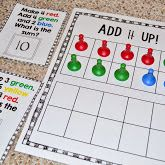 addition freebie, first grade addition, addition center, addition game