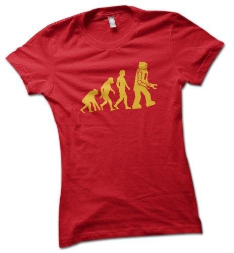 Robot Evolution Ladies T-Shirt Red Small 8 - 10 bybulldog, http://www.amazon.co.uk/dp/B005IPUH7I/ref=cm_sw_r_pi_dp_3vAZqb1Z4B3N7