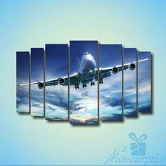 Модульная картина Самолет машина из 7 фрагментов NS-819