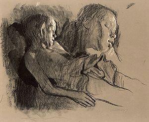 Käthe Kollwitz (1867–1945) »Sleeping Child and Child's Head«