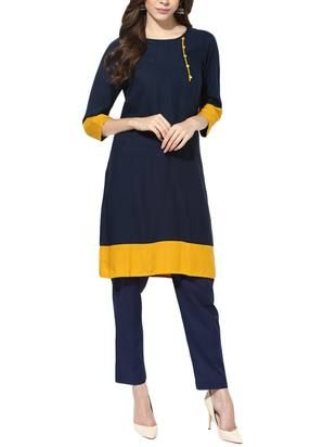 Check out what I found on the LimeRoad Shopping App! You'll love the blue crepe straight kurta. See it here http://www.limeroad.com/products/14857714?utm_source=6c79537446&utm_medium=android