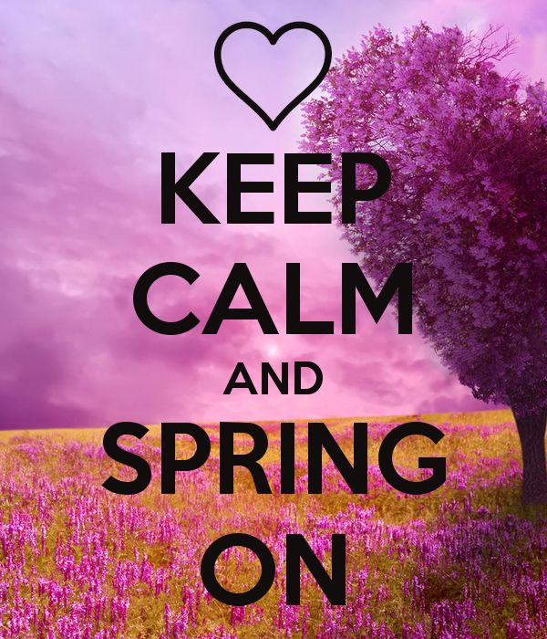 'KEEP CALM AND SPRING ON' Poster