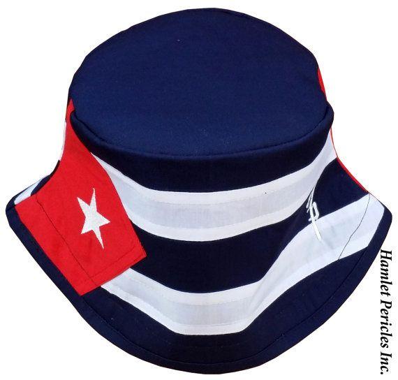 Cuba Flag Unisex Bucket Hat  Cuban Hat  by HamletPericlesInc