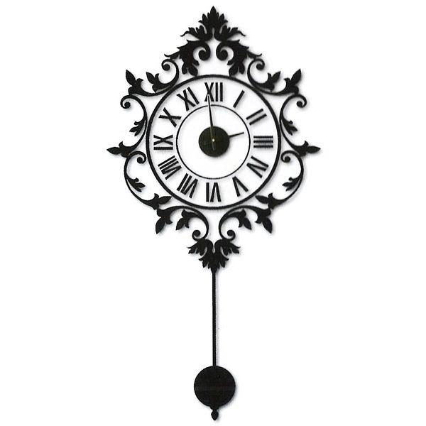 Horloge murale sticker baroque