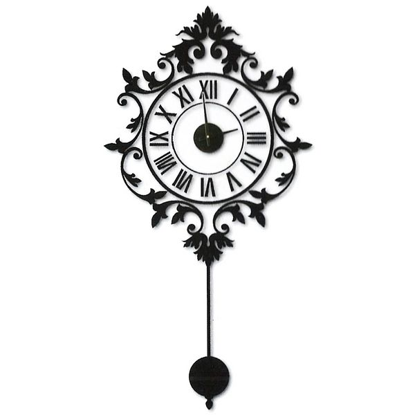 Horloge murale sticker baroque