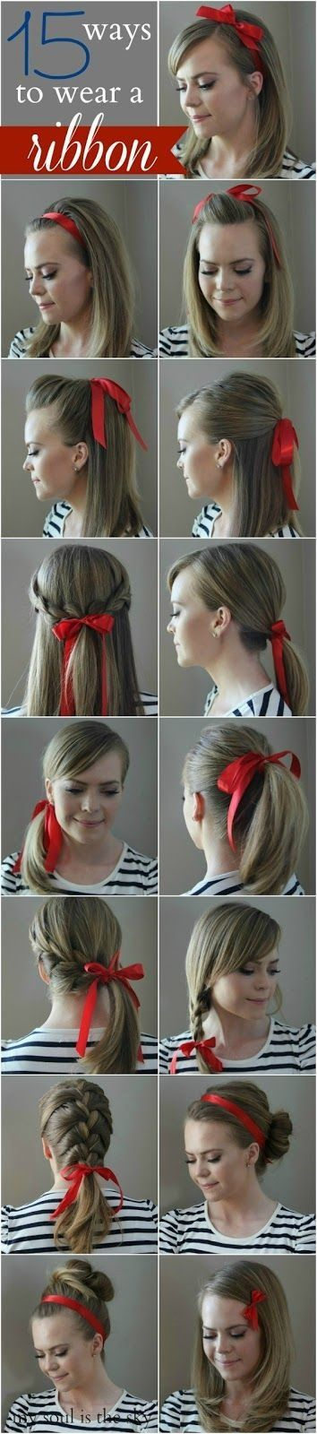 Different hairstyles with a bow