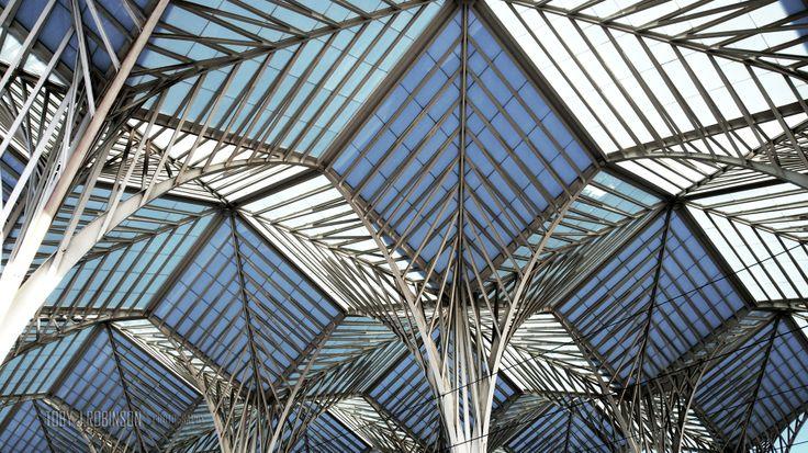 Estacio de Oriente, train station by Santiago Calatrava. Lisbon Portugal