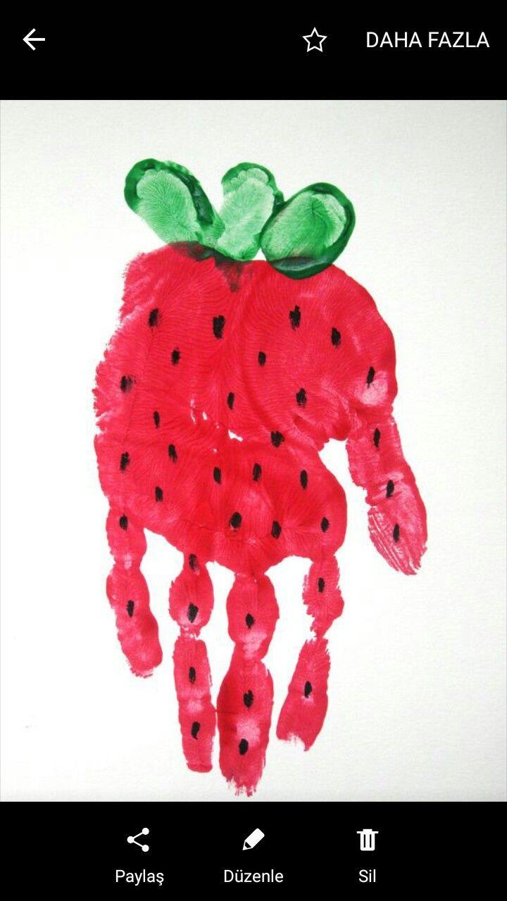 14 best Parmak boya ile meyveler images on Pinterest | Children ...
