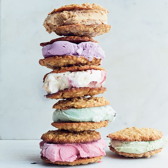 Cardamom-Oatmeal Cookie Ice Cream Sandwiches