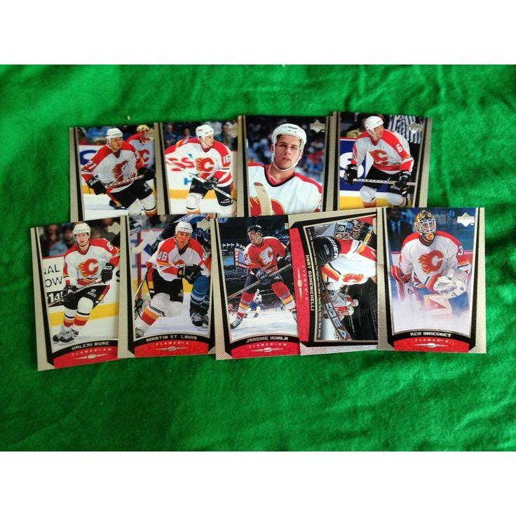 NHL Hockey Trading Cards x 9 Upper Deck 1999 Set Calgary Flames