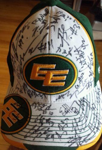 2013 Team Signed CFL Edmonton Eskimos Hat- BNWT