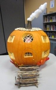 This was our pumpkin-carving contest winner! They did a great job!