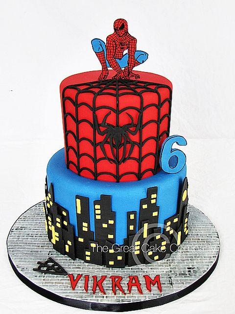 19 Best Spider Man Cake Images On Pinterest Birthdays Spiderman