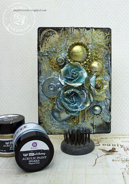Sparks card by Riikka Kovasin for Prima Marketing