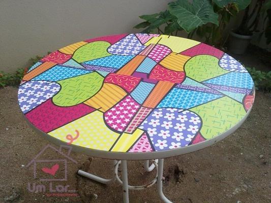 Mesa reformada com papel contact!!!!