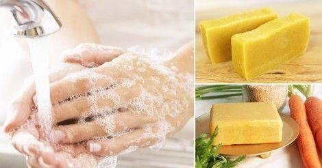 Jabón casero de zanahoria y caléndula con propiedades anti-envejecimiento e…