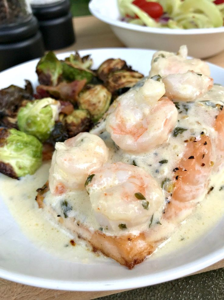 Try this Baked Salmon With Lemon Parmesan Shrimp to bring together some of your favorite flavors in a light, healthy, low carb dish!