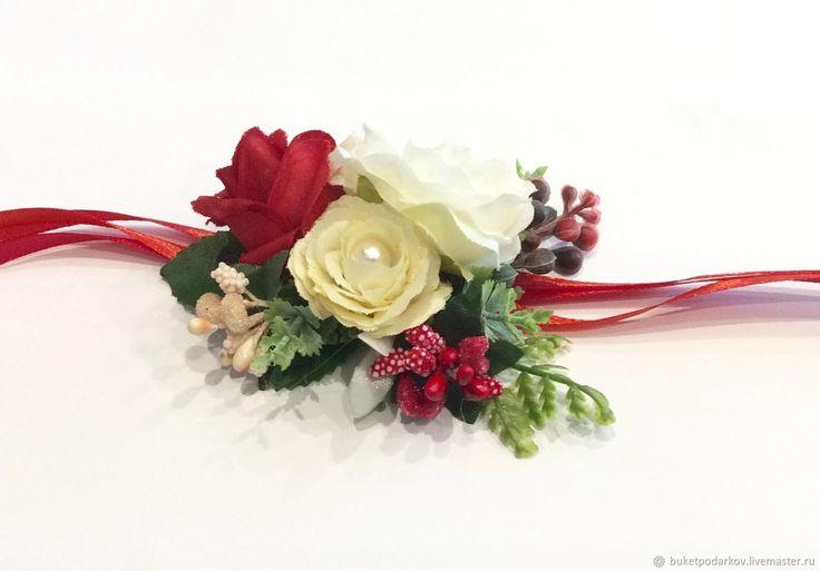 Купить или заказать Браслеты на девичник ( красно- белые) в интернет-магазине на Ярмарке Мастеров. Как правило, подружки на свадьбу надевают платья одинакового цвета, в руках они держат небольшие букеты в тон букетам невесты. Но учитывая то, что у подружек в этот день множество забот, то, чтобы освободить их руки, часто используют свадебные браслеты для подружек невесты. Необычный аксессуар не ограничивает движений девушек, они запросто могут поправить причёску или платье невесты…