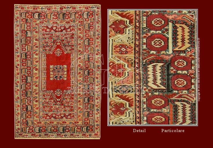 Tappeto ghiordes antico tappeti antichi persiani e - Tappeti turchi vintage ...