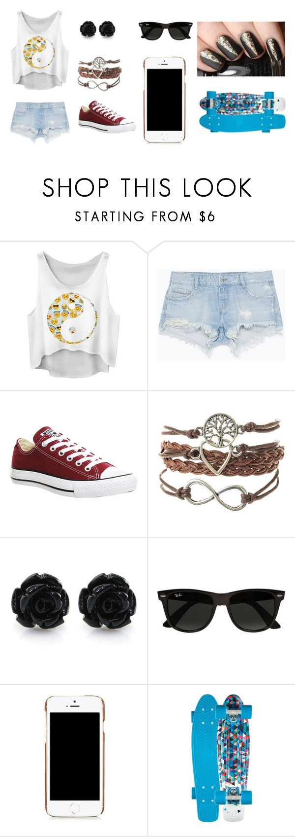 """Untitled #67"" by zahlia-tibbs on Polyvore featuring Zara, Converse, Ray-Ban and Moschino"