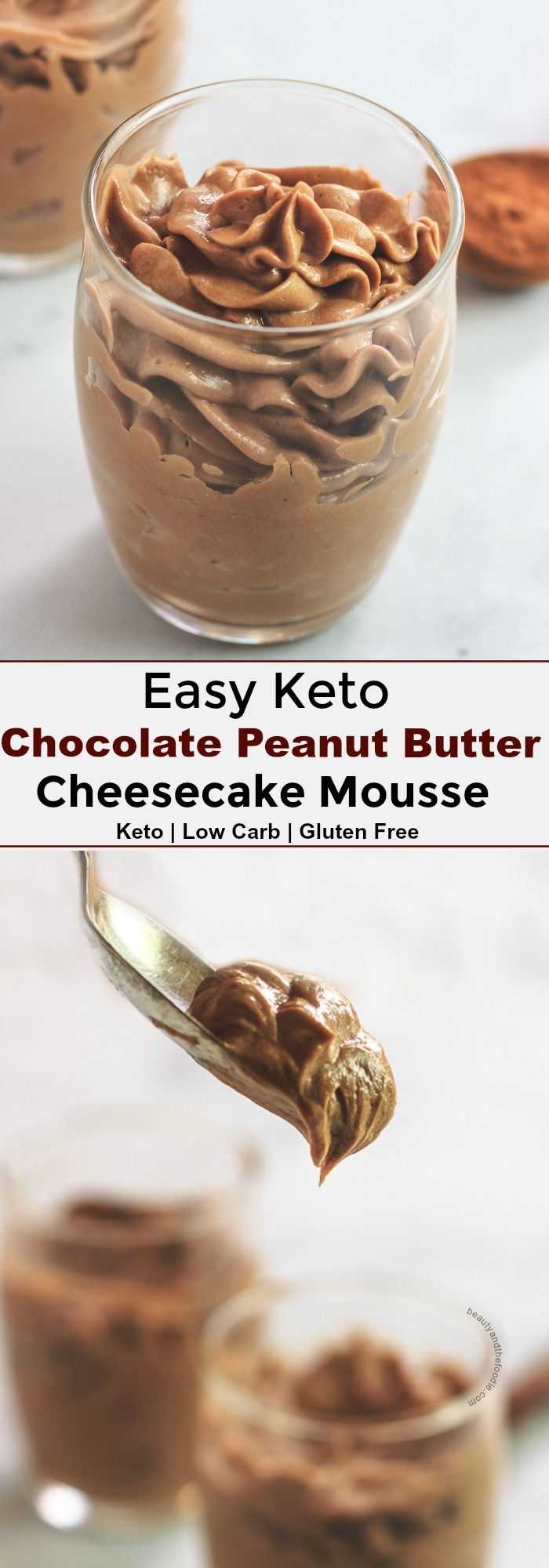 Keto Chocolate Peanut Butter Cheesecake Mousse   B…