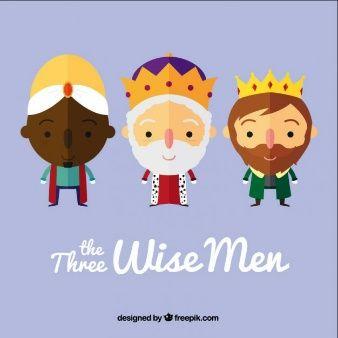Los tres reyes magos en estilo dibujos animados