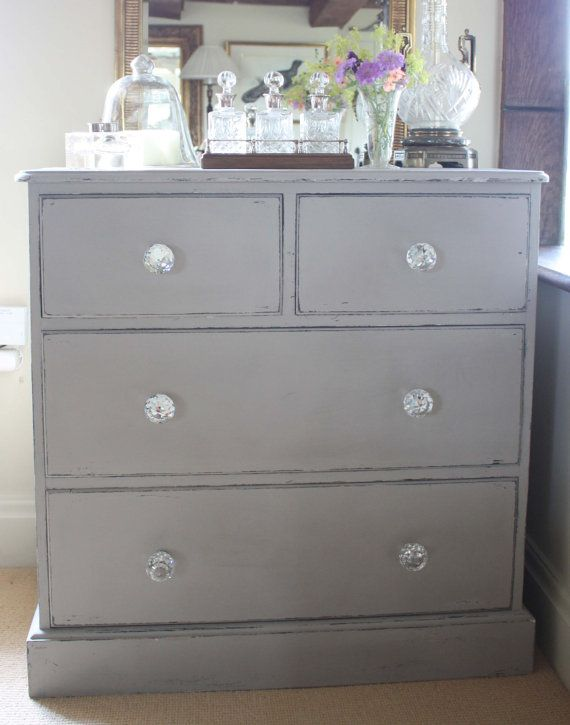Fabulous Vintage Solid Pine Painted Chest of Drawers SOLD www.sallywhitedesigns.com