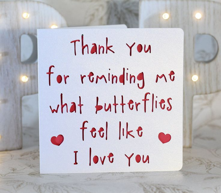 Feeling butterflies, silly love card, love Card for him, love card for her,engagement, gay engagement,sappy love card, queer love card