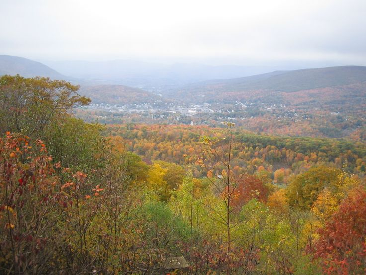 Looking down to North Adams