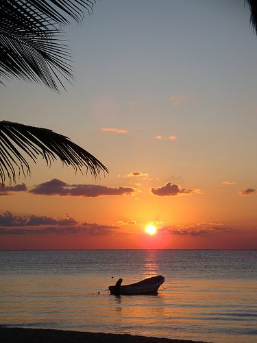 Morning Sunrise. Playa Del Carmen, Mexico 8 days until I go there! Can't wait to go back to this place.