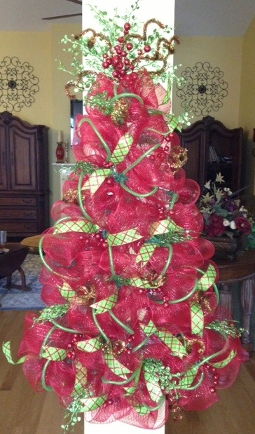 How To Decorate Christmas Tree With Poly Mesh Ribbon : Best mesh christmas tree ideas on deco