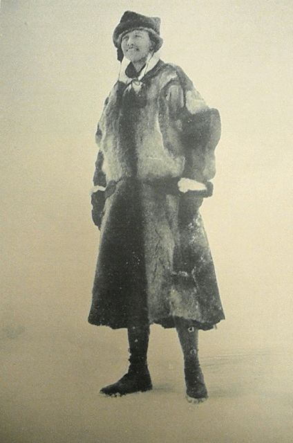 Louise Arner Boyd ( 1887-1972), heiress to millions, wanted to use her money to add to the world's scientific knowledge of Arctic regions. Her focus was the coast of Eastern Greenland with four expeditions sponsored by the Amer. Geographic Soc. in the 1930's. Two areas in East Greenland were named for her by the Danish government. During WWII she was the Arctic expert for the U.S. government. Her final adventure was to the North Pole in 1958, hiring a plane and crew to fly around it.