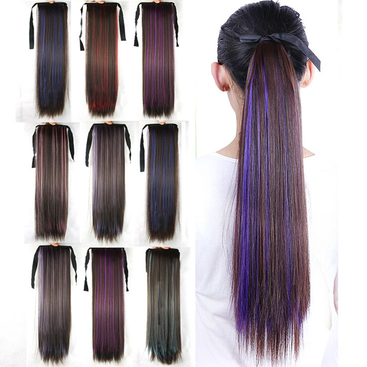 Cheap Hair Extension Buy Quality Clip Craft Supplies Directly From China Color Dark Brown Suppliers Long Straight Synthetic Wigs