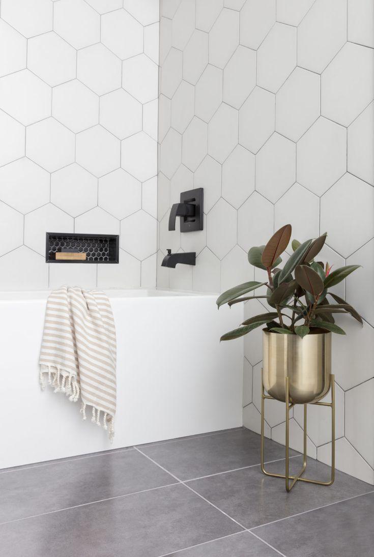 Self Expression Through Geometric Tile The Tile Shop Blog Bathroom Tile Inspiration Modern Bathroom Tile Bathroom Tile Designs