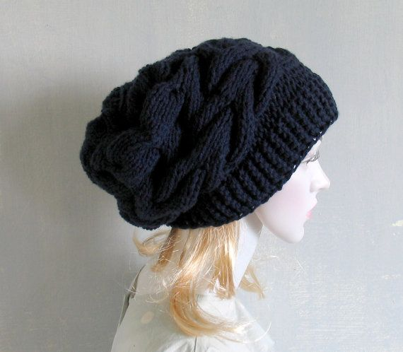 Womens slouchy Beanie hat  Slouchy Beanie   by recyclingroom