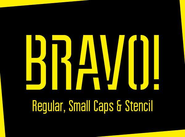 Bravo Stencil Font - Free Download